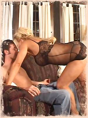 Very hot milf babe Amber Lynn swallows a big cock and takes a ride